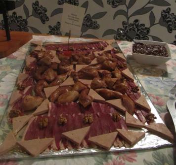 Foie gras, magret fumé, caille