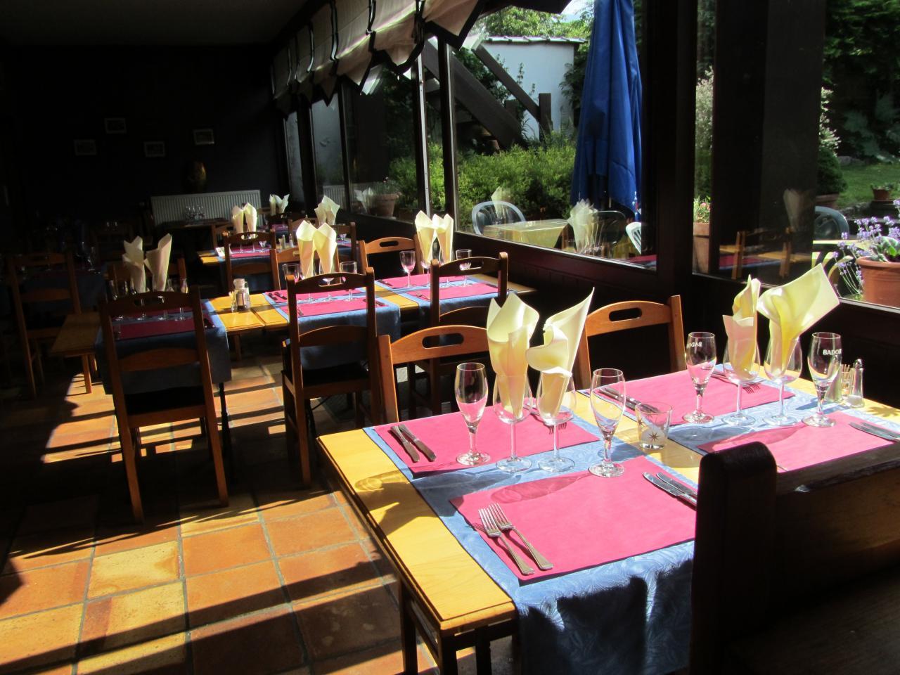 Restaurant dans la veranda