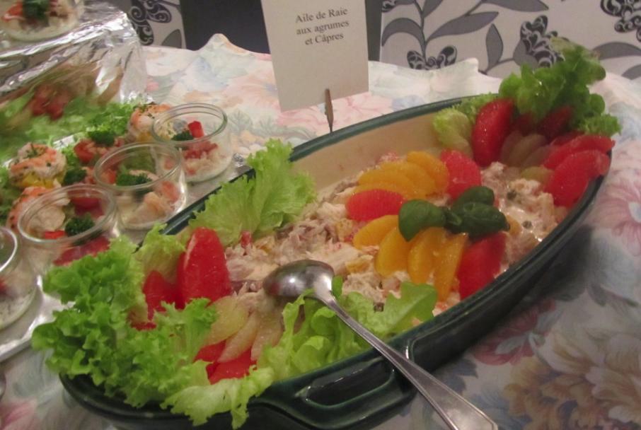 Salade d'Aile de raie aux agrumes